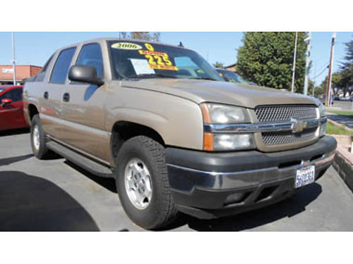 2006 CHEVY AVALANCHE 1500 LS V8 FFV 4WD Z71 Off-Rd pkg tow pkg 9995 0963G139557 SBCARCO