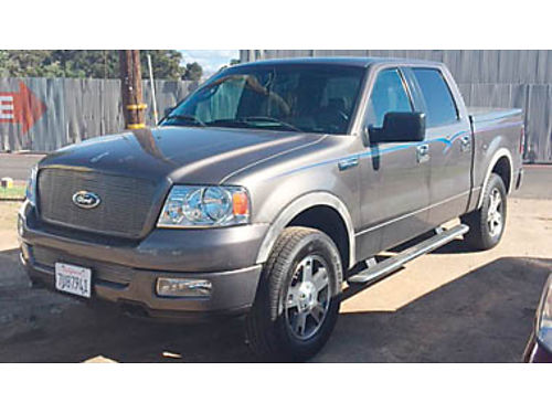 2005 FORD F150 4x4 FX4 Crew Bed cover leather bucket seat 172K miles one owner tow pkg  more