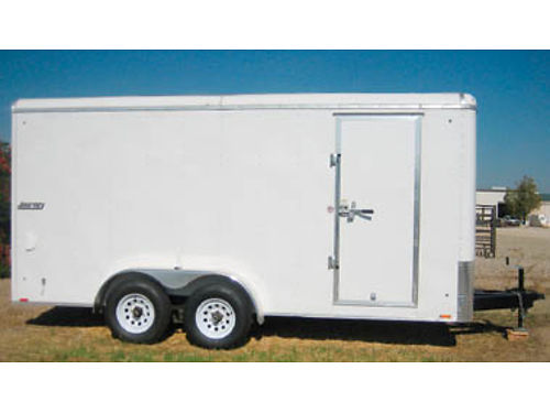 16FT PACE ENCLOSED TRAILER Brand new heavy axles 6 bud rims Used once 5800 Ask for Jerry at 8