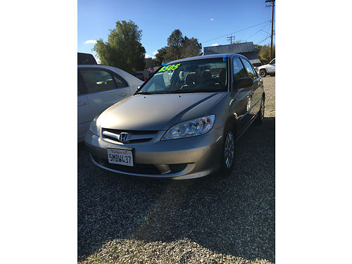 2005 HONDA CIVIC LX - 17L 4 cyl 34 MPG at ac pwd pdl tilt cd 42K miles 00930 8505 G