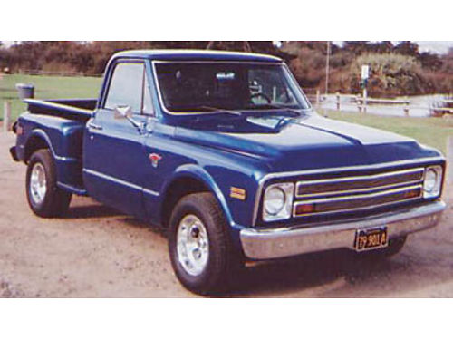 1968 CHEVY 12 TON Stepside Pick-up 327 cuin 350 Automatic nice shape runs good call for info