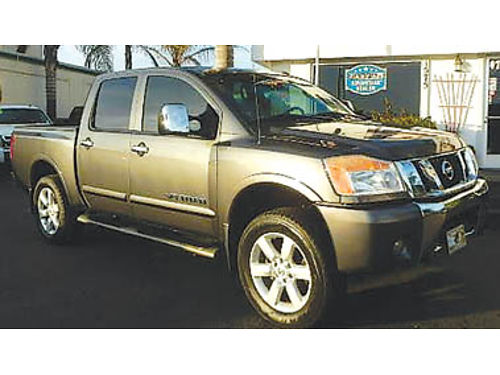 2009 NISSAN TITAN CREW CAB LE 4x4 one owner leather TVs in headrest 16750 8781308672 CENT