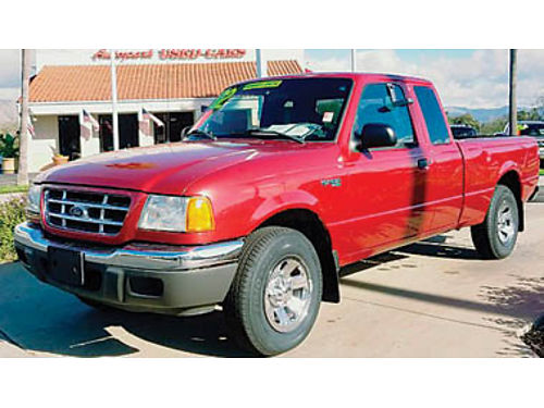 2002 FORD RANGER Super Cab V6 30L XLT dual airbags custom bumper low miles 6998 2600PA15