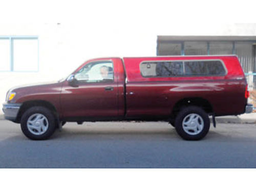2005 TOYOTA TUNDRA Longbed V8 4x4 single cab with campershell and bedliner AC automatic trans