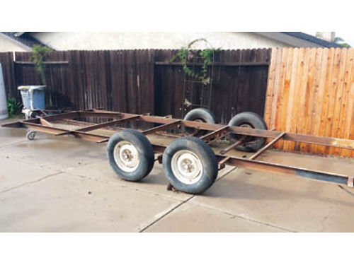 17FT TRAILER TANDAM AXLE electric brakes use for gardening man toys car trailer or even a tiny