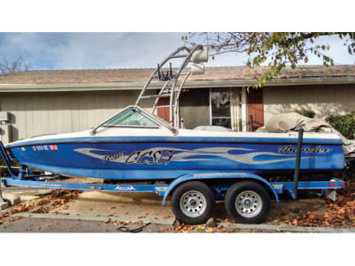 2005 NEW CENTURION TOWBOAT with 2 axle trailer Strong 350 Mercruiser MagMpi engine bimini top su