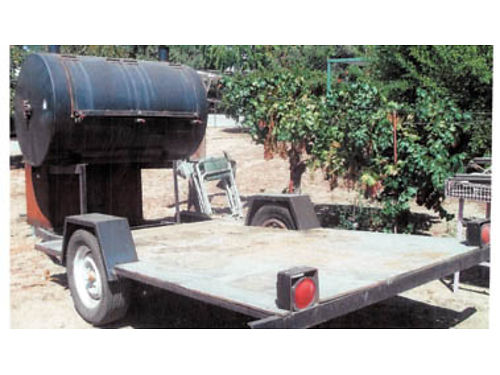 SMOKERBBQ 38x59 Custom Built Smoker with 24x24x40 firebox 4 shelfs that are 10x50 on carous