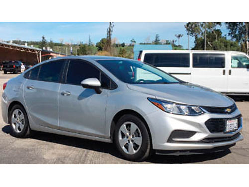 2016 CHEVY CRUZE LS Turbo 14L auto cloth seats only 4600 miles Asking 18000 805-350-1517