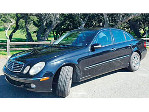 2004 MERCEDES-BENZ E320 In xlnt cond chrome rims 184K miles AT well maintained- all records ne