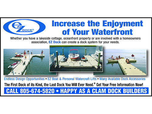 HAPPY AS A CLAM Dock Builders - Increase the enjoyment of your waterfront Endless design opportunit
