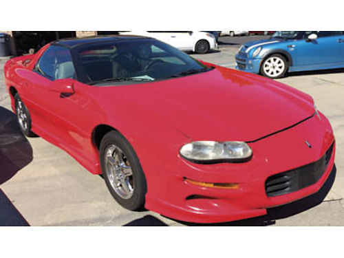 1999 CHEVY CAMARO V6 38L AC CC prem sound lthr t-bar roof rear spoiler prem whls  more