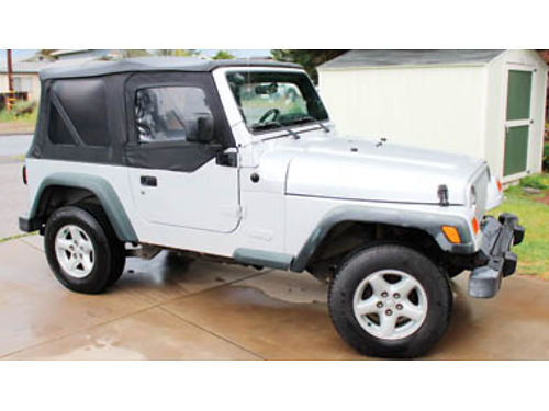 2003 JEEP WRANGLER X Good condition 6 cylinder 93k easy miles New tires New Alpine radiocdmp3