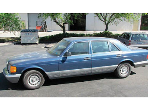 1985 MERCEDES-BENZ 500 SEL runs great looks rough 126K AT all power AC tires good 1950