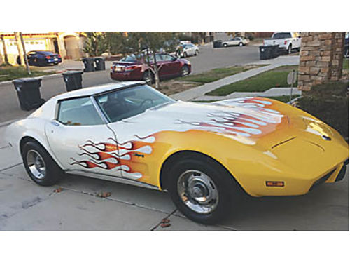 1975 CHEVY CORVETTE STINGRAY L-82 T-Top Matching numbers 76K 350 orig spare tire- never used N