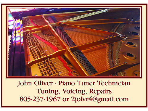 PIANO TUNER TECHNICIAN Serving San Luis Obispo County Call for your appointment Tuning Voicing Re