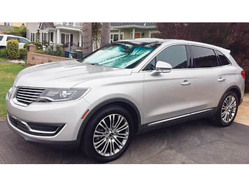 2016 LINCOLN MKX Premier pkg 1 owner 12K miles Immaculate 38750 Call 805-234-7211