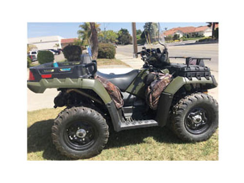 2010 POLARIS ATV 550cc 12 hours like new tilt bed winch windshield in-line seat 2 passengers