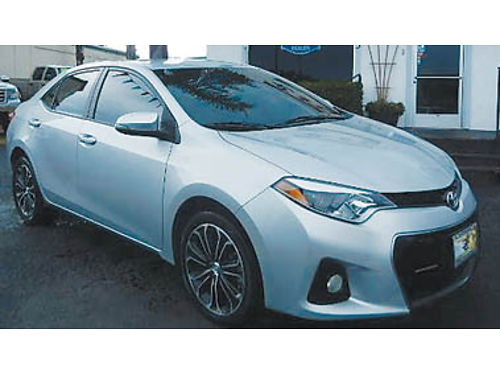 2014 TOYOTA COROLLA S PLUS Leather back-up camera premium wheels 12750 8802056789 CENTRAL