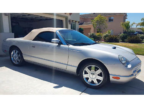 2005 FORD THUNDERBIRD 50TH ANNIVERSARY 48600 miles Convertible 8 Cyl Auto all power all record