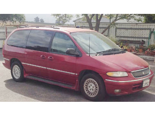 1996 CHRYSLER Town  Country 7 passenger Minivan 1 owner xlnt cond low miles V6 AT cold ac fron