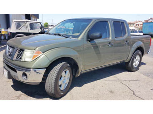 2005 NISSAN FRONTIER - 4 Door 90K orig mi clean title smogged good tags 6 cyl standard 6 speed