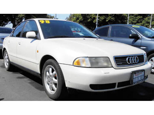1998 AUDI A4 Leather moonroof 3995 1049074946 SBCARCO 1001 West Main St Santa Maria 805-6