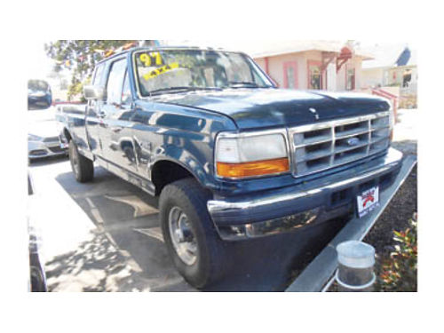 1997 FORD F250 SUPER CAB HD Longbed V8 turbo diesel 73L AT 4WD AC CC tow pkg Only 5995