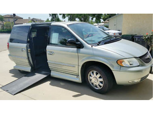 2004 CHRYSLER TOWN  COUNTRY Limited FWD orig owner under 89K 38L V6 OHV 4 speed AT wheelchai