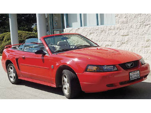 2004 FORD MUSTANG CONVERTIBLE 40th Anniversary Edition only 77K miles V6 AT tan leather tan top