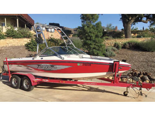 2007 22FT CENTURION Air Warrior T5 only 128 hr on boat 350 Scorpio motor Bimini top great stereo