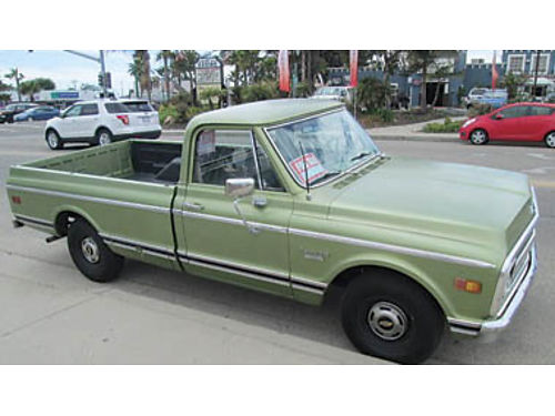 1970 CHEVY C-10 PICKUP Runs as good as it looks Automatic transmission stock truck 12500 805-