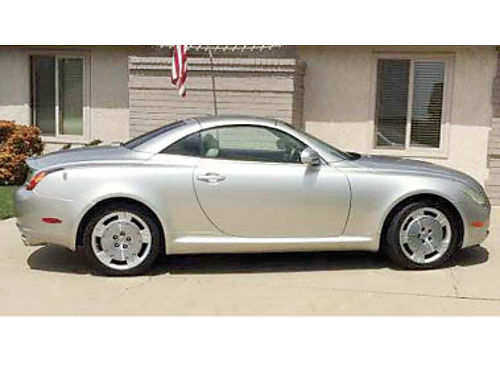 2002 LEXUS SC430 5 spd AT convertible hard top heated leather seats disc brakes well maintd w