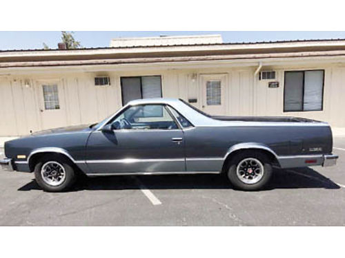 1986 CHEVROLET EL CAMINO 305 engine in excellent condition one owner 109k miles new AC compresso