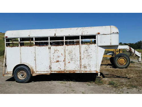 STOCK TRAILER - 14ft floor length Single axle 1800 or best offer