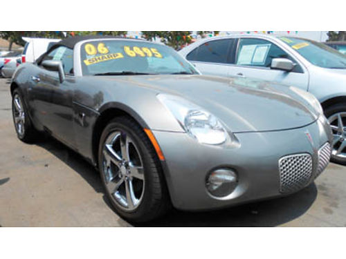 2006 PONTIAC SOLSTICE Convertible Leather 4cyl 5spd nice car 6495 42508113470 Only at FAMI