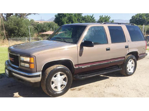 1997 GMC YUKON SLT 4x4 244000 miles New battery new alternator new thermostat 2500 Purchase