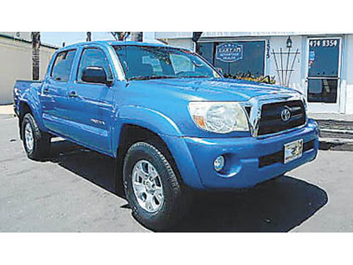 2006 TOYOTA TACOMA Double Cab TRD pkg one owner new tires super clean 16995 8883021992 CE