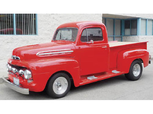 1951 FORD F-1 302 AT Comp cam all steel truck disc brakes Volare front clip smoke tint window