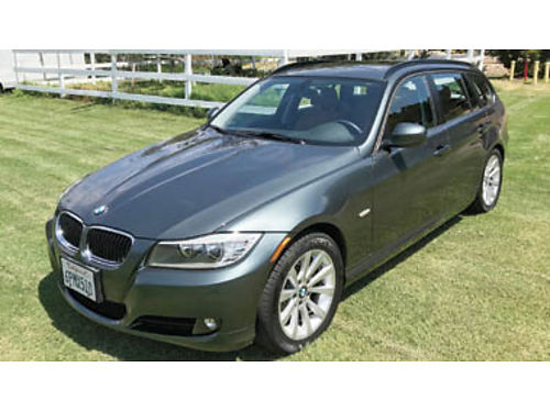 2011 BMW 328i Sport wagon 49K miles Tasmin green brown leather new tires- battery- brakes- tune
