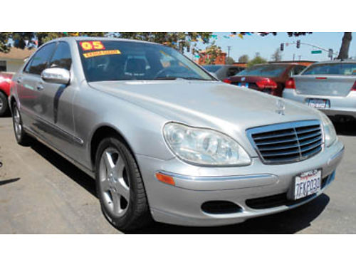 2005 MERCEDES BENZ S CLASS S500 V8 50L AT AC Bose Nav sys lthr mnrf alloys 9599 U2091