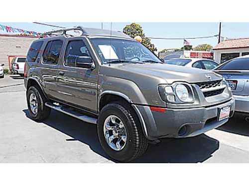 2002 NISSAN XTERRA tow pkg nice SUV - come test drive today 3902 874113 CALIFORNIACAR SALES