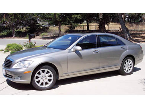2007 MERCEDES-BENZ S550V Excellent cond V8 AT 64K mi pewter ext black lthr int Non-smoker No