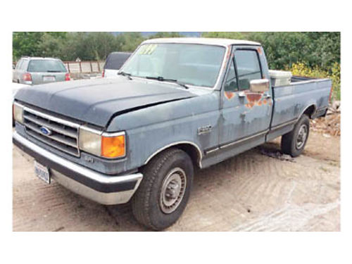 1989 FORD F-250 LARIAT Long bed 75L auto trans 70700 miles passed smog 81