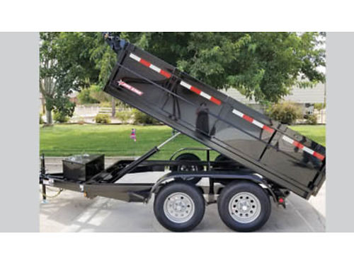 NEW 2018 6X10 DUMP TRAILER with 10000  ram 2-3500 axles one with brake tarp kit spare tire