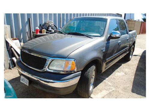 2002 FORD F150 SUPER CREW V8 AT AC moonroof 212K miles alloy wheels new tires 346920 2990