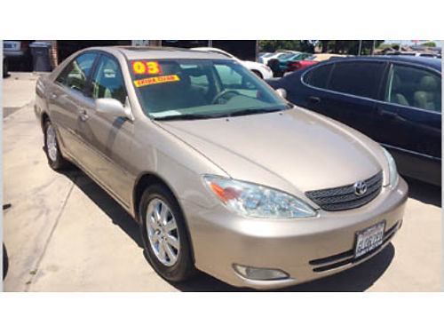2003 TOYOTA CAMRY XLE 4cyl AT ABS AC amfm stereo prem sound moonroof prem whls Only 4490