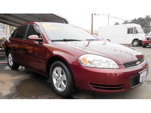 2007 CHEVY IMPALA LT traction control AC CC TW amfm Pseat rear spoiler alloy whls Only 4