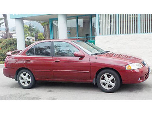 2002 NISSAN SENTRA 1655K miles 5 speed 33 MPG 2200 Any more questions call 805-471-1959