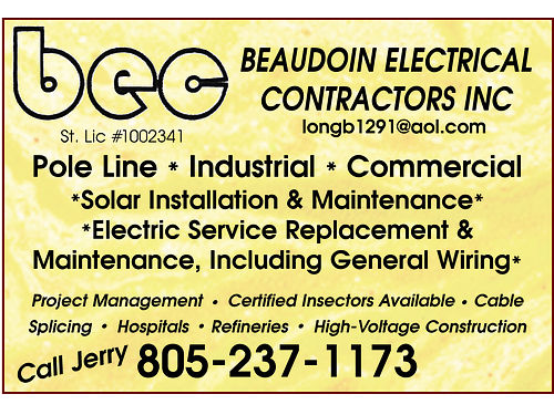 BEAUDOIN ELECTRICAL CONTRACTORS INC Pole Line  Industrial  Commercial Solar Installations  Mainte