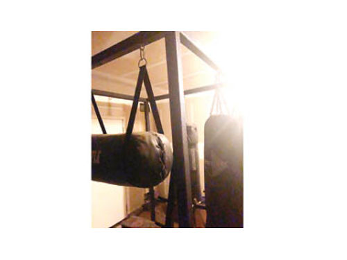 CUSTOM BUILT CONCRETE ANCHOR PUNCHING BAG STAND, ...